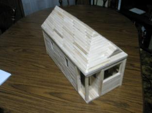 Tiny house popsicle stick model